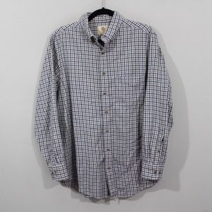Viyella Mens M Wool L Sleeve Button Dress Shirt